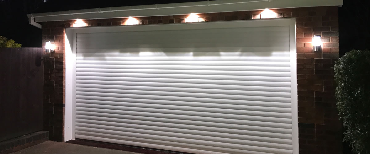 garage door spot lights